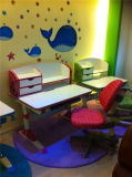 Tiltable Wooden Study Table Designs Children Table with Book Cabinet