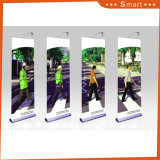 with Two Metal Foot and Adjustable Height Roll up Banner Stand
