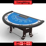 New Design Half Round Custom Blackjack Poker Table Manufacture Casino Table with Standard Poker Chip (YM-BJ03)