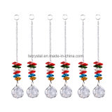 Colorful Octagon Glass Suncacther Glass Christmas Tree Deocrs Crystal Haning