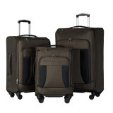Hot Selling 3 Piece Set Expandable Softshell Deluxe Nylon Luggage Suitcase