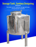 Made of SUS 304 Storage Tank, with Glass Liquid Gauge, Sealing Well No Leakage, CIP Rorating