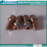 Special Double Head Hex Bolts with Drilled Holes Copper Coating