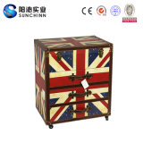 London 3 Drawers Canvas Dresser with Top Cover (SCWC00006)