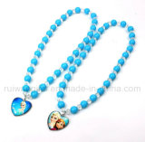 Fashion Frozen Elsa and Anna Pendent Necklace for Girls