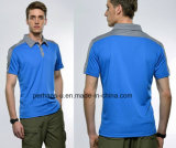 Cool Mens Polyester Mesh Breathable Polo Shirt