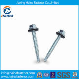 1022 Carbon Steel Hex Washer Head Self Drilling Screw EPDM