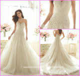 Lace Bridal Ball Gowns Sweetheart Applique Wedding Dresses Y16301