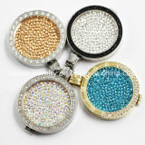 New Style Stainless Steel Crystal Coin Locket Pendant