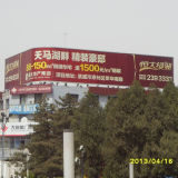 Outdoor Large Size Arc-Shaped Advertising Trivision Billboard
