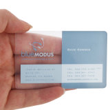 Metal or Transparent PVC Business Card with Hot Stamping Silver Number