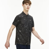 Men′s Regular Fit Speckled Print Polo Shirts
