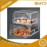 Low Price Best-Selling 4 Tier Clear Acrylic Bakery Display Case Airtight