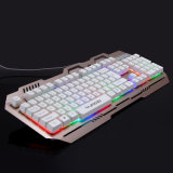 Aluminum Alloy Mechanical Feeling Keyboard Gamer for Cyber Cafe (KB-906EL-C)