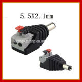 DC Power Male Female 5.5X 2.1mm Connector Adapter Plug Cable Pressed Connected for LED Strips 12V