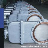 Wcb/Lcb/Wc6/CF8/CF8m Flange Knife Gate Valve with Bolted Bonnet
