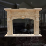 High Quality Carved Indoor Decorative Marble Fireplace