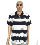 100% Combed Cotton Stripe Style Polo Shirt with High Quality