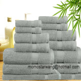 Solid Dobby Bamboo Bath Towel Set