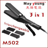 3 in 1 Rechangeble Hair Straightener and Hair Curling Iron