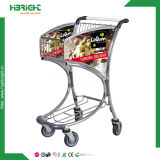 Duty Free Airport Luggage Trolley with Hand Break