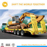 Carrying Crane Loader and Other Heavy Machinery Low Bed Trailers