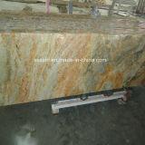 Bullnosed Edge Imperial Gold Granite Countertops