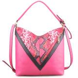 Guangzhou Supplier Designer Faux Leather Lady Patchwork Handbag Hobo Bag (LY05052)