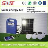 5W Portable Solar Energy Kit System Lighting, FM Radio, Music, USB Output, Charging Mobile