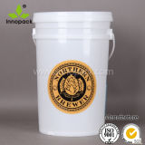 25 L Plastic Bucket with Lids 6.5 Gallon Pail with Handle