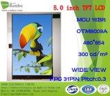 "5.0"" Fwvga 480X854 MCU 16bit ODM High Luminance TFT LCD Module"