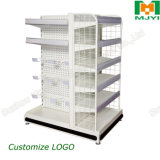Powder Coating Metal Peforated Supermarket Standard Shelving by Manufacturer