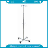 AG-Ss009A Ce&ISO Approved Stainless Steel Movable Hospital IV Pole