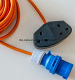 Extension Cord UK Extension Cord 13A 250V with VDE Cable H05VV-F 3G1.25mm2 BS Plug with UK Socket RoHS