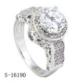Hotsale 925 Silver Micropave CZ Rings Fancy Ladies Ring