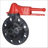 Chinese Factory, FRPP/Rpp Lever Handle Butterfly Valve, Plastic Butterfly Valve