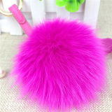 Furry Fox Fur POM POM Car Keychain Bag Charms
