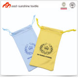 Microfiber Eyeglasses Pouch with Function of Lens Cleaning Cloth