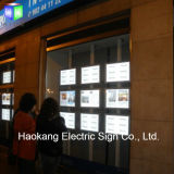 Ceiling Double Side Hanging Acrylic LED Light Box for Real Estate Window Sign