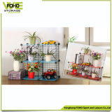Wire Storage Cube Wholesale Metal Metal Rack with Flowers