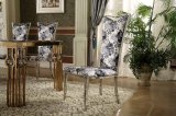 Moden Simple Good Quality Fabric Golden Stainless Steel Dining Chair