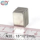N35 NdFeB Permanent Magnet with Nickel Plating