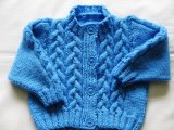 Cable Hand Knitted Baby Sweater Cardigan Dress Pullover Apparel