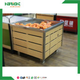 Wood Promotional Supermarket Vegetable and Fruit Display Table