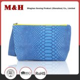 Blue Portable Scaly Soft Ladies Travel Leather Handbags