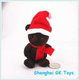 Chocolate Bear Merry Christmas Mini Plush Toy