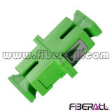 Sc APC Simplex Fiber Optic Adapter Plastic Green