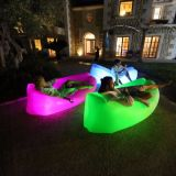 Factory Wholesale Colorful Outdoor Inflatable Sleeping Air Bag Lamzac Hangout with LED Light