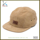 Custom Leather Patch 5 Panel Suede Snapback