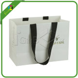 White Paper Shopping Bag with Handles